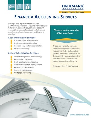 Finance & Accounting Services Brochure