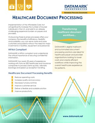 Healthcare Document Processing Brochure