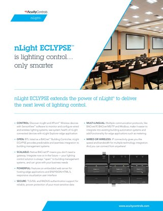 nLight ECLYPSE Sell Sheet