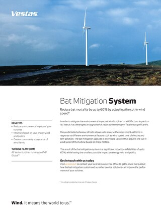 Bat mitigation system