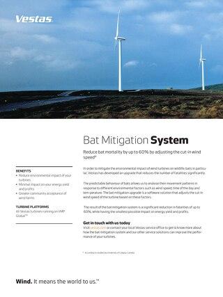Bat mitigation system