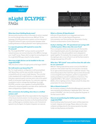 nLight ECLYPSE FAQs