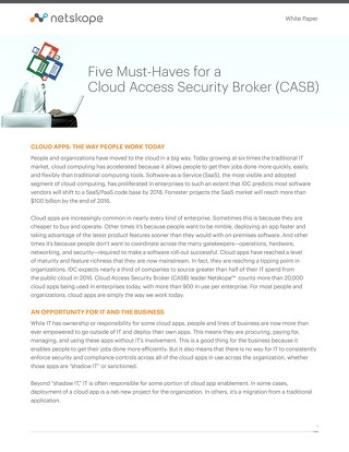 5 Must Haves for a Cloud Access Security Broker (CASB)