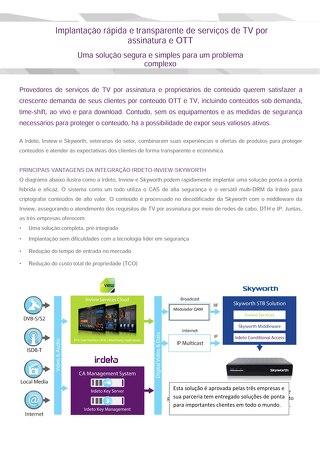 Implantação rápida e transparente de serviços de TV por assinatura e OTT