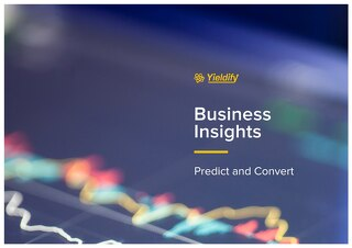 Yieldify 'Predict & Convert' - business insights product brochure