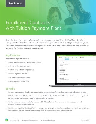 onBoard® Enrollment Contracts and Smart Tuition Payment Plans