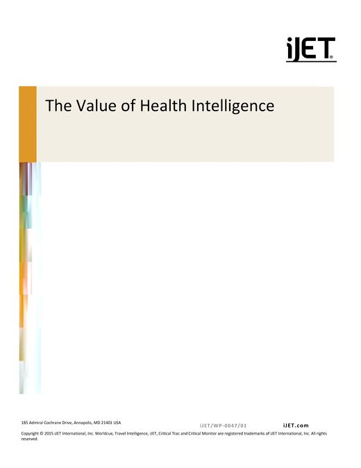 The Value of Health Intelligence