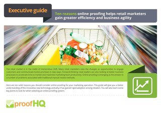 Ten Reasons Why Retail Marketers Should Use Online Proofing