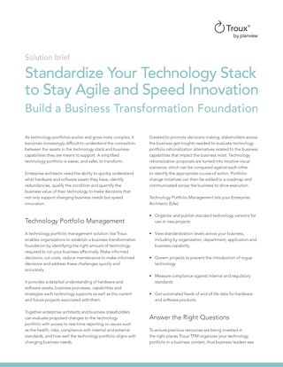 Standardize Your Technology Stack