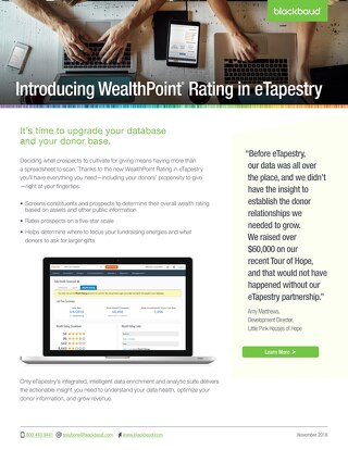 WealthPoint Rating, Now in eTapestry