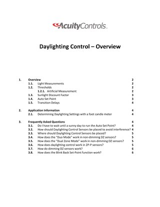 Daylighting Control Guide