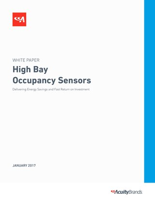 High Bay Occupancy Sensors Whitepaper