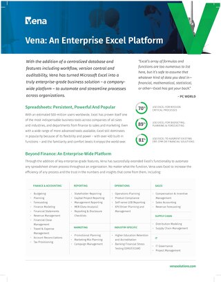 Vena An Enterprise Excel Platform
