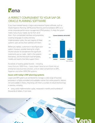 Vena A Perfect Complement to Your SAP or Oracle Planning Software