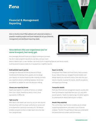 Vena Financial and Management Reporting