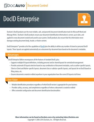 Powerful enterprise-level document identification solutions