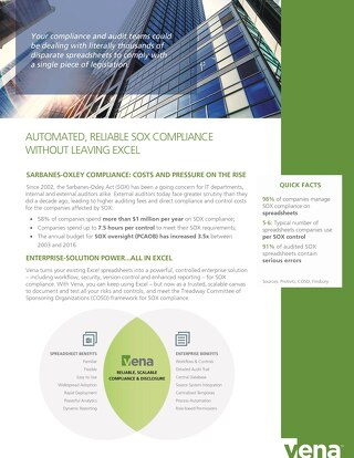 Vena Automated Reliable SOX Compliance