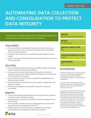 Client Use Case - Automating Data Collection and Consolidation to Protect Data Integrity