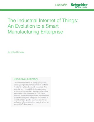 The Industrial Internet of Things: An Evolution to a Smart Manufacturing Enterprise