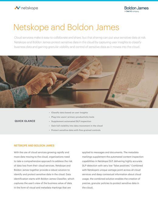 Netskope and Boldon James