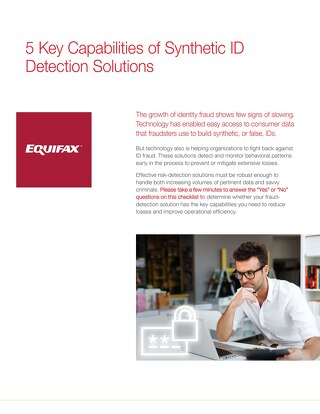 Synthetic Fraud Detection Checklist
