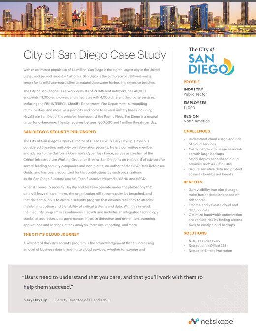 City of San Diego Case Study