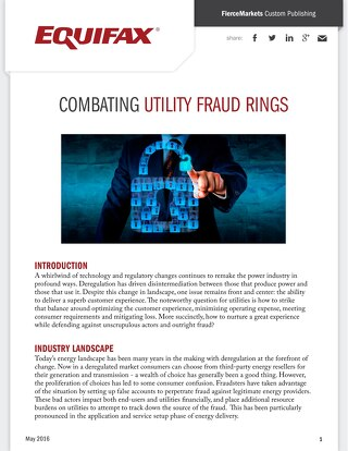 Combating Utility Fraud Rings