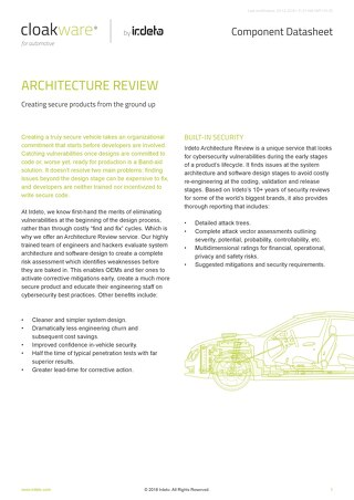Datasheet: Architecture Review