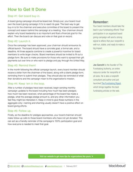 Etapestry Growing Nonprofit  Tip Sheet Developing A Board
