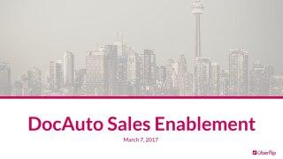 Sales Enablement Training - DocAuto