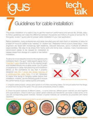 7 Guidelines for Cable Installation