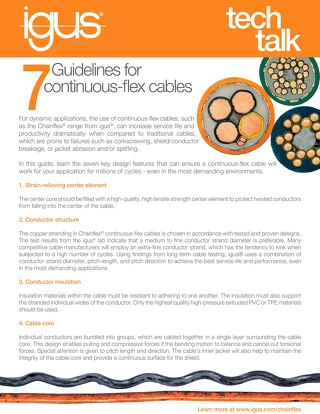 7 Guidelines for Continuous Flex Cables