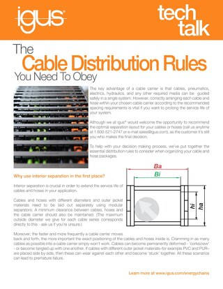 Cable Distribution Rules You Need to Obey