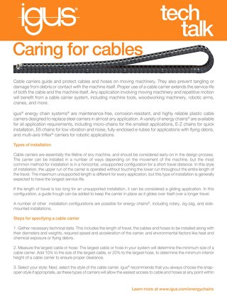 Caring for Cables