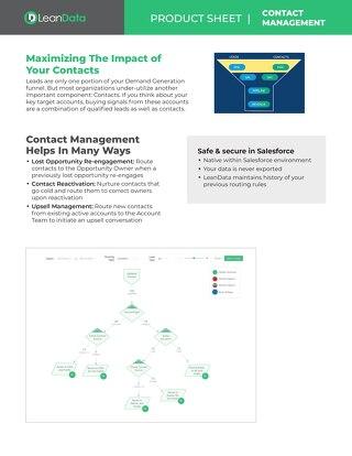 LeanData Contact Routing Full Datasheet