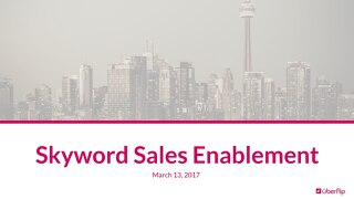 Sales Enablement Training - Skyword