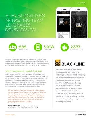 DoubleDutch + BlackLine