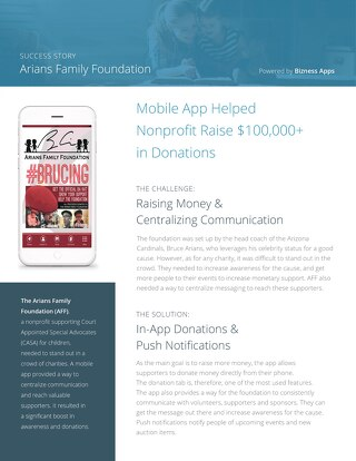 Arians Family Foundation Success Story