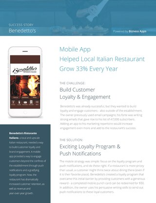 Bendetto's Success Story