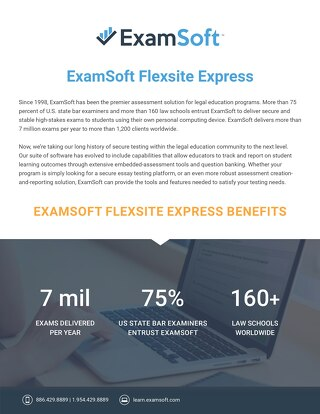 ExamSoft LS-Lite OnePager