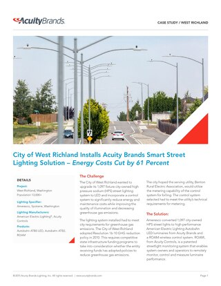 Small City Thinks Big: West Richland Implements Citywide Smart Lighting Conversion [Case Study]