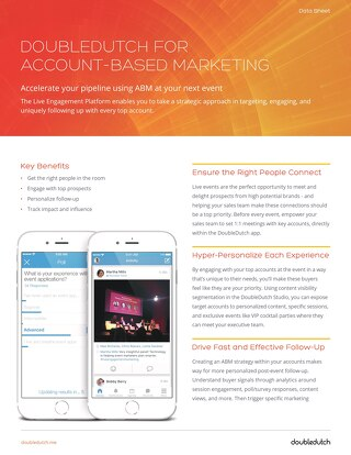 DoubleDutch for Account Based Marketing