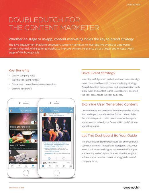 DoubleDutch for Content Marketing