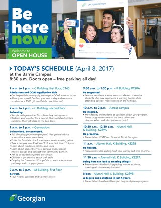 2017 Spring Open House - Barrie booklet