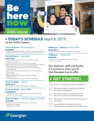 2017 Spring Open House - Orillia booklet