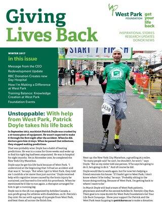 Giving Lives Back - Winter 2017