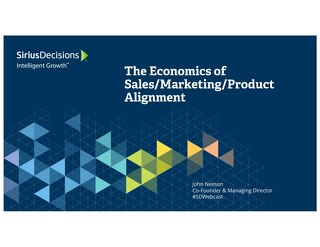 The Economics of Sales, Marketing, Product Alignment