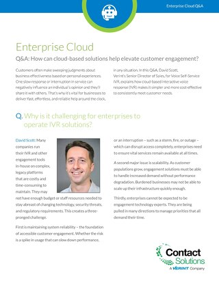 Q&A: How Can Cloud-based Solutions Help Elevate Customer Engagement?