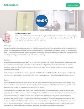 MarsDD Testimonial