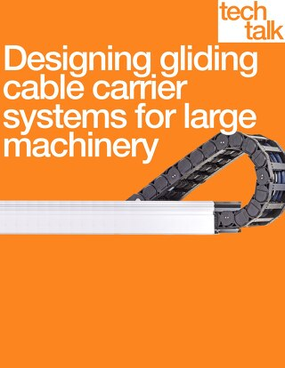 Designing gliding cable carrier systems for large machinery